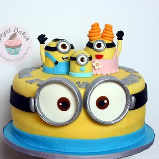 Minions Wedding Anniversary Cake