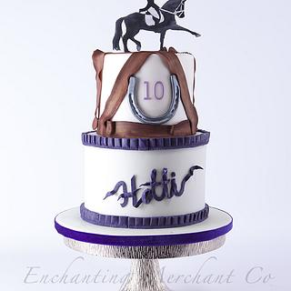 Horse riding theme birthday cake