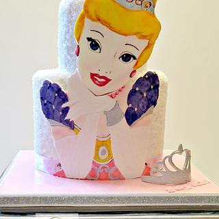 Painted Princess cake