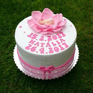 Christening cake for girl