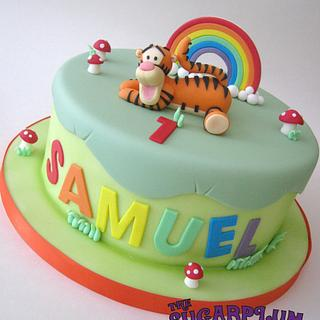 Rainbow Tigger Birthday Cake