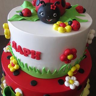 Ladybug cake - Cake by sansil (Silviya Mihailova)