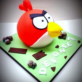 Angry Bird - Cake by Sarah Poole
