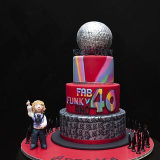 Disco Dance 40th Birthday Cake - Cake by Julie Anne White