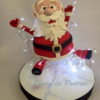 Santa sliding