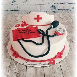 Nurse B-day cake