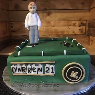 Lawn bowls 21st - Cake by Liz