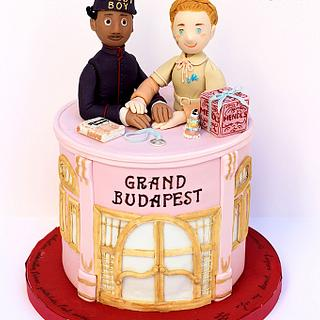 The Grand Budapest Hotel cake (Zero & Agatha) for Be My Valentine! Movie Nights collaboration