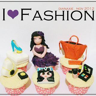 I Love Fashion - Cake by Diana
