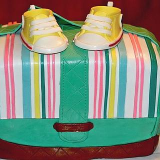 Diaper Bag cake - Cake by Random Acts of Sweetness