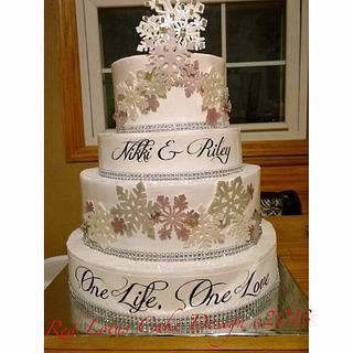 Nikki & Riley Knights Wedding Cake