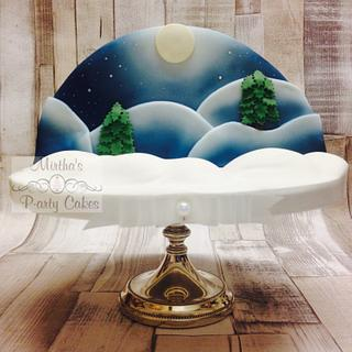 Airbrushed Christmas cake!