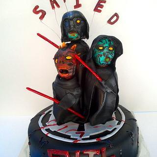 Zombie Star Wars Cake - Cake by Mimi's Sweet Shoppe Amanda Burgess