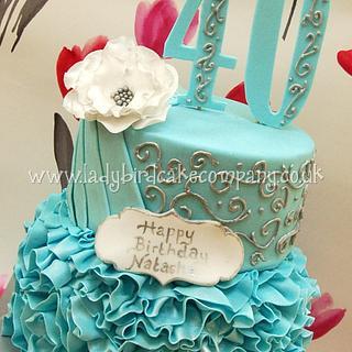 Fortieth ruffle cake
