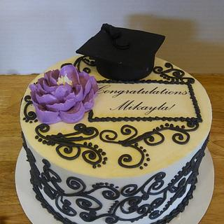 Buttercream graduation cake