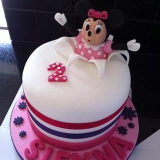 Minnie birthday cake - Cake by Hayleycakes1