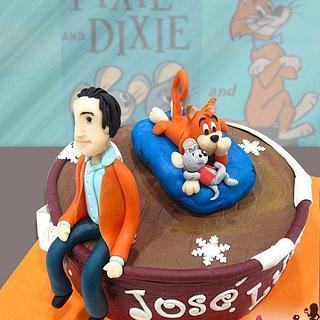 Pixie and Dixie cake