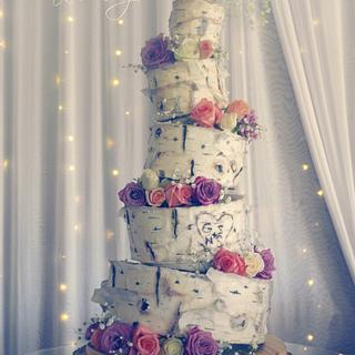 Topsy Turvy Birch Cake