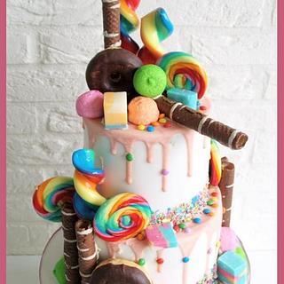 lollie go loco drip cake