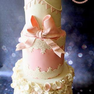 Shabby Chic  Birthday Cake - Cake by Slice of Heaven By Geethu
