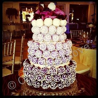 Ombre Cake Ball Cake