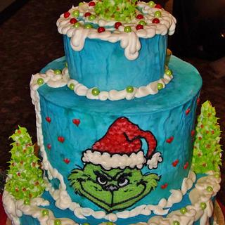 Grinch cake buttercream