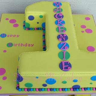 Spotty Number One Cake