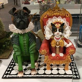 Elizabethan dog and cat