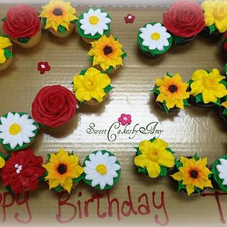 Buttercream flowers cupcakes