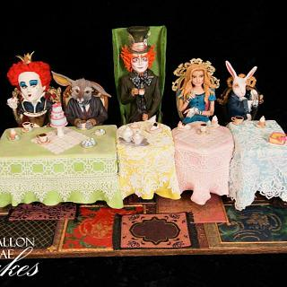 Alice in Wonderland- Mad Hatter's Tea Party - Cake by Fallon Rae Cakes