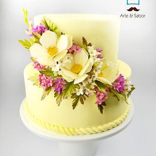 Lovely Tiny Flowers - Cake by José Pablo Vega