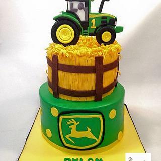 John Deere 1st birthday cake