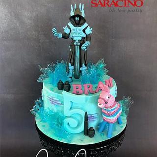 Fortnite cake Ice King