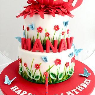 Baby Krishna birthday Cake