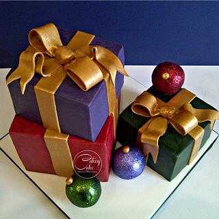 Christmas Presents! - Cake by CakeyCake
