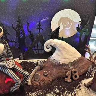 Huge Nightmare Before Christmas Cake