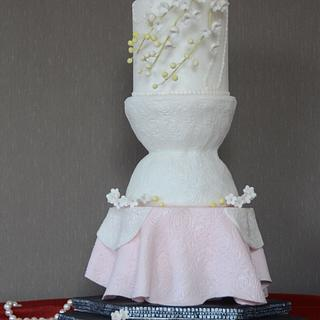 Red Carpet Cake, inspired by Christian Dior, gown worn by Jennifer Lawrence in 2013