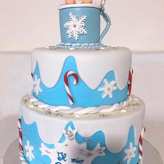 Christmas baptism cake - Cake by Rossana Lio