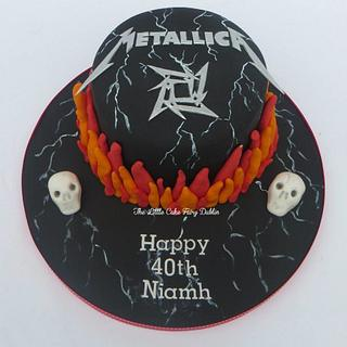 Metallica 40th birthday cake and cupcakes - Cake by Little Cake Fairy Dublin