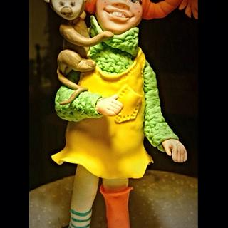 Pippi Longstocking caketopper