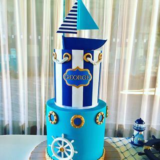 Nautical christening/BD cake