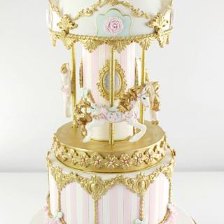 Pretty Carousel Cake