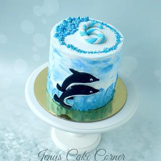 Dolphins ... - Cake by Jeny John