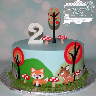 Woodland Creatures - Cake by Sugar Sweet Cakes