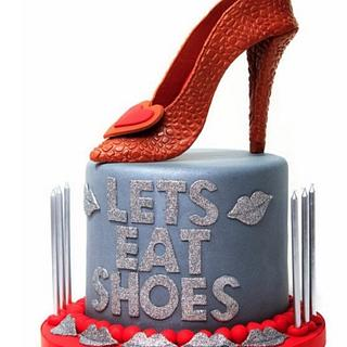 Let's Eat Shoes Cake