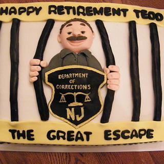 Retirement cake for a corrections officer