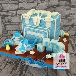 Designer Baby Shower - Cake by Mr Baker's Cakes