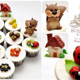 Tropical Fruits Cupcakes