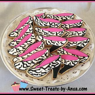 Zebra Shoe Cookies