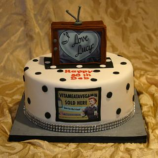I Love Lucy cake - Cake by Chrissy Rogers